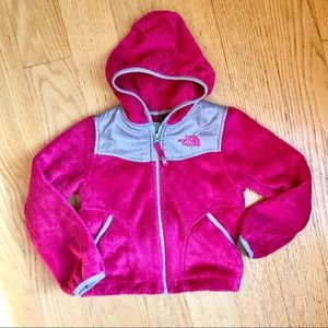 North Face magenta fleece jacket